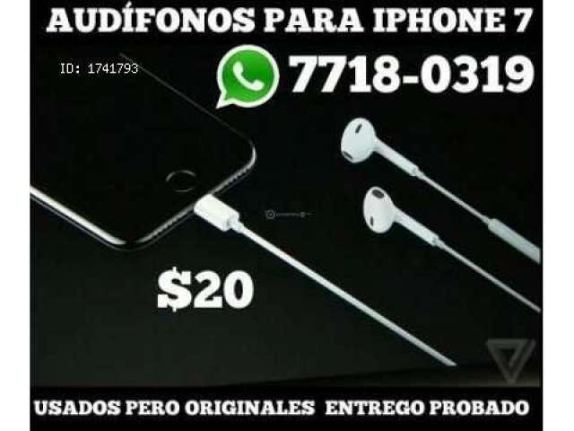 AQUI! TENES AUDIFONOS PARA IPHONE 7